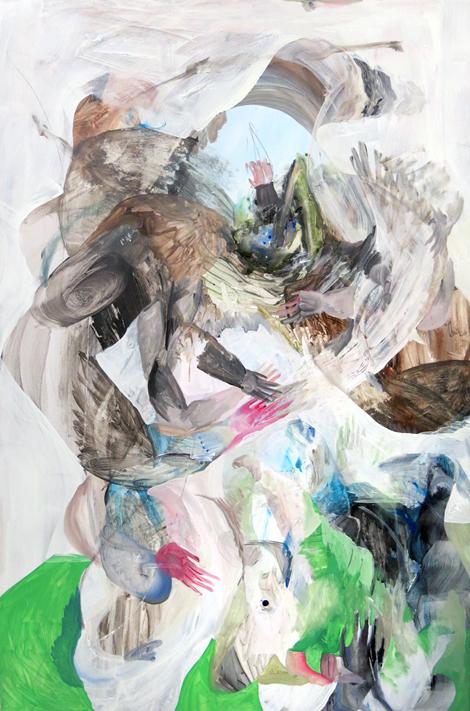 Scott Harber «Sans Titre 01» (2014) acrylique sur bois (152cm x 122cm)
